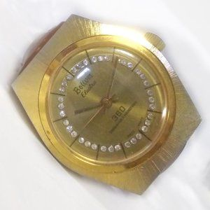 Vintage Bolivia Electra 360 Mechanical Watch Gold